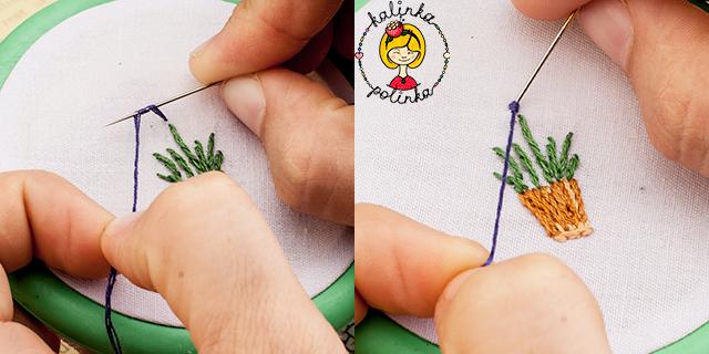 французский узелок, швы для вышивки