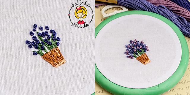 французский узелок цветы лаванды