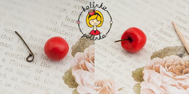 ягодки из полимерной глины