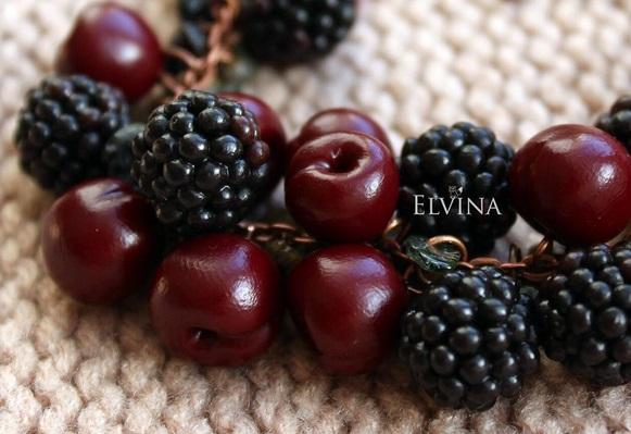 реалистичные ягоды из полимерной глины