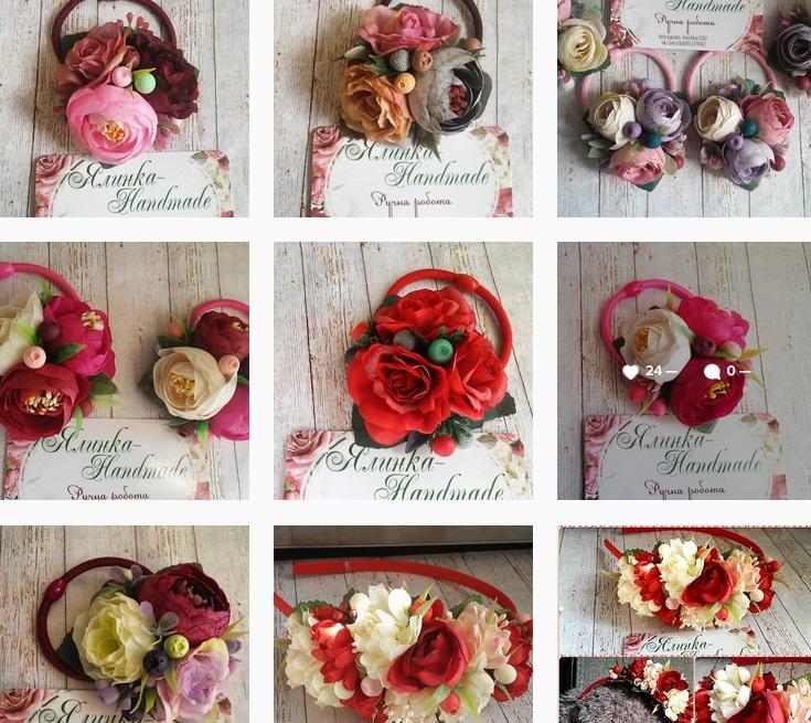 сочетание полимерных ягод с цветами из фоамирана