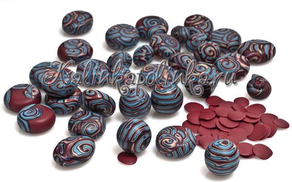 Бусы из полимерной глины мастер класс