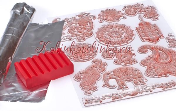 Мастер-класс по лепке из полимерной глины - браслет со штампами