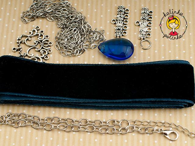 Материалы для изготовления чокера на ленте своими руками.