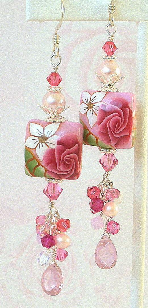 Полимерная глина с цветочным узором
