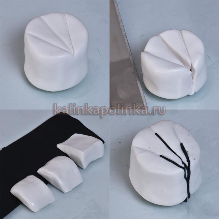 сложить узор из полимерной глины