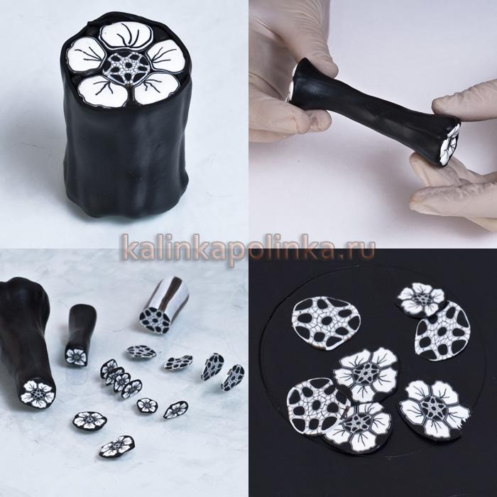 как использовать срезы из полимерной глины