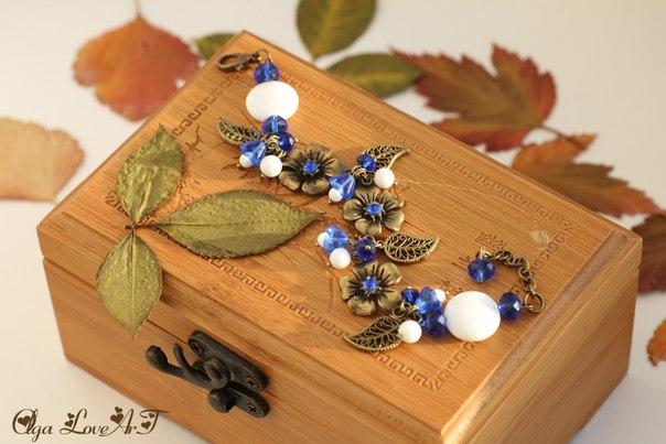 подвеска листик цвет бронза