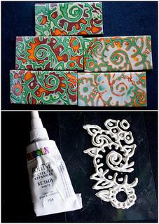 mokume gane with a handmade texture