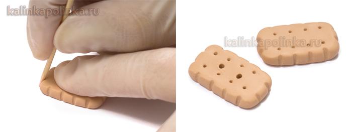 пуговицы в виде печеньки из полимерной глины