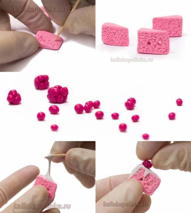 пуговицы-тортики из полимерной глины