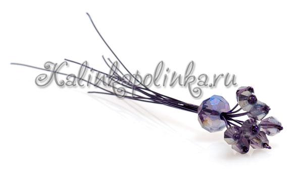 серединка цветка из полимерной глины