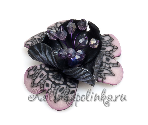 мастер-класс цветы из полимерной глины фото 11