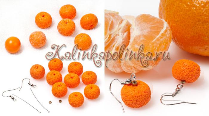 мандарин из полимерной глины