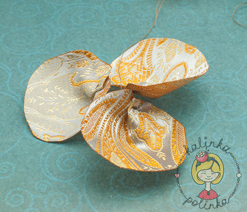 лепестки из ткани для цветов из органзы