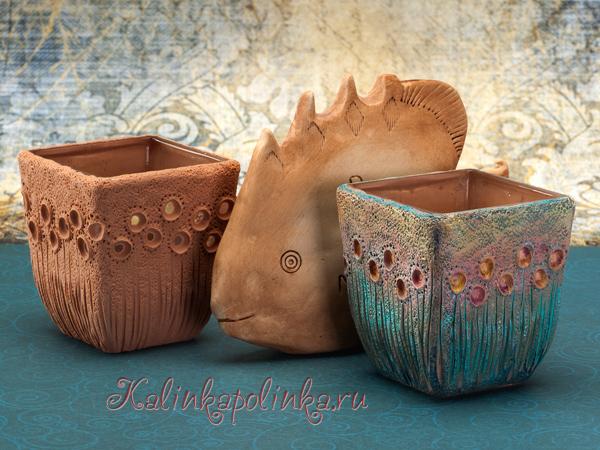 Рыба из полимерной глины и декор подсвечника своими руками