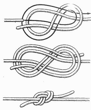 Это один из древнейших морских узлов, который применяли на кораблях для соединения двух тросов как тонких...