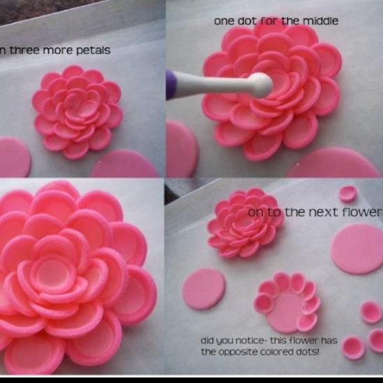 Мастер классы цветы из мастики