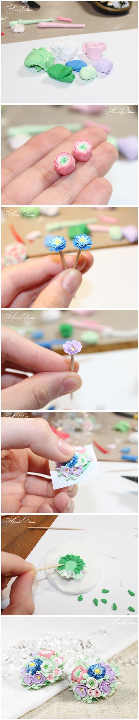 Фото мастер класс по лепке цветов из полимерной глины