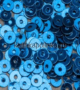 Пайетки-мини жаркий голубой металлик купить.