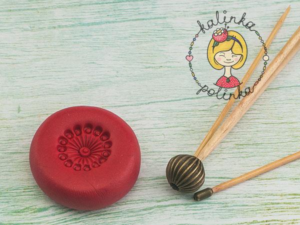 мак из полимерной глины polymer clay poppy молд для серединки цветка своими руками.