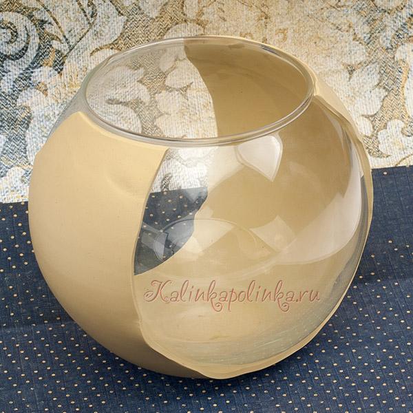 оформление стеклянной банки полимерной глиной