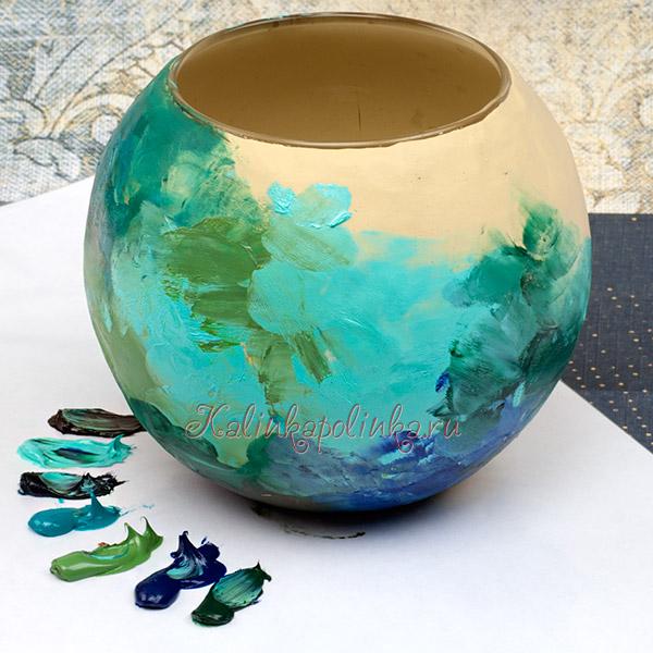 использование масляной краски на полимерной глине