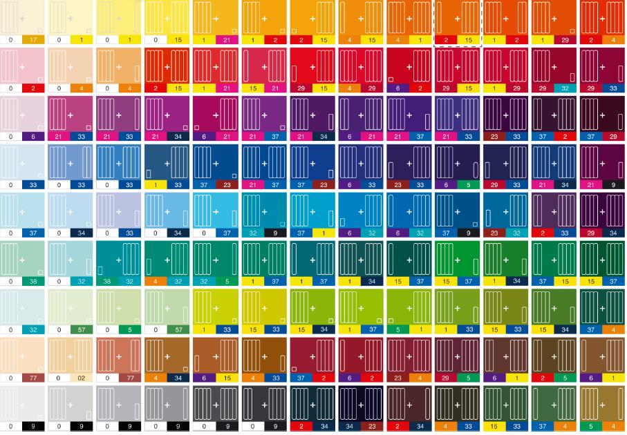 Смешение цветов таблица для детей