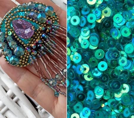 Брошь медуза