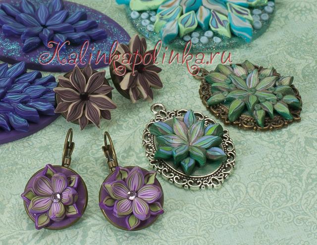 Цветы из обрезков полимерной глины