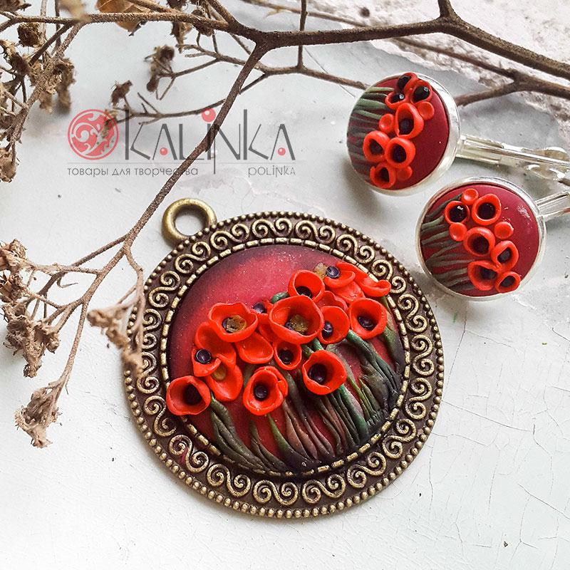 Цветы мака из полимерной глины своими руками